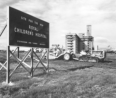 The site for the new Royal Children's Hospital