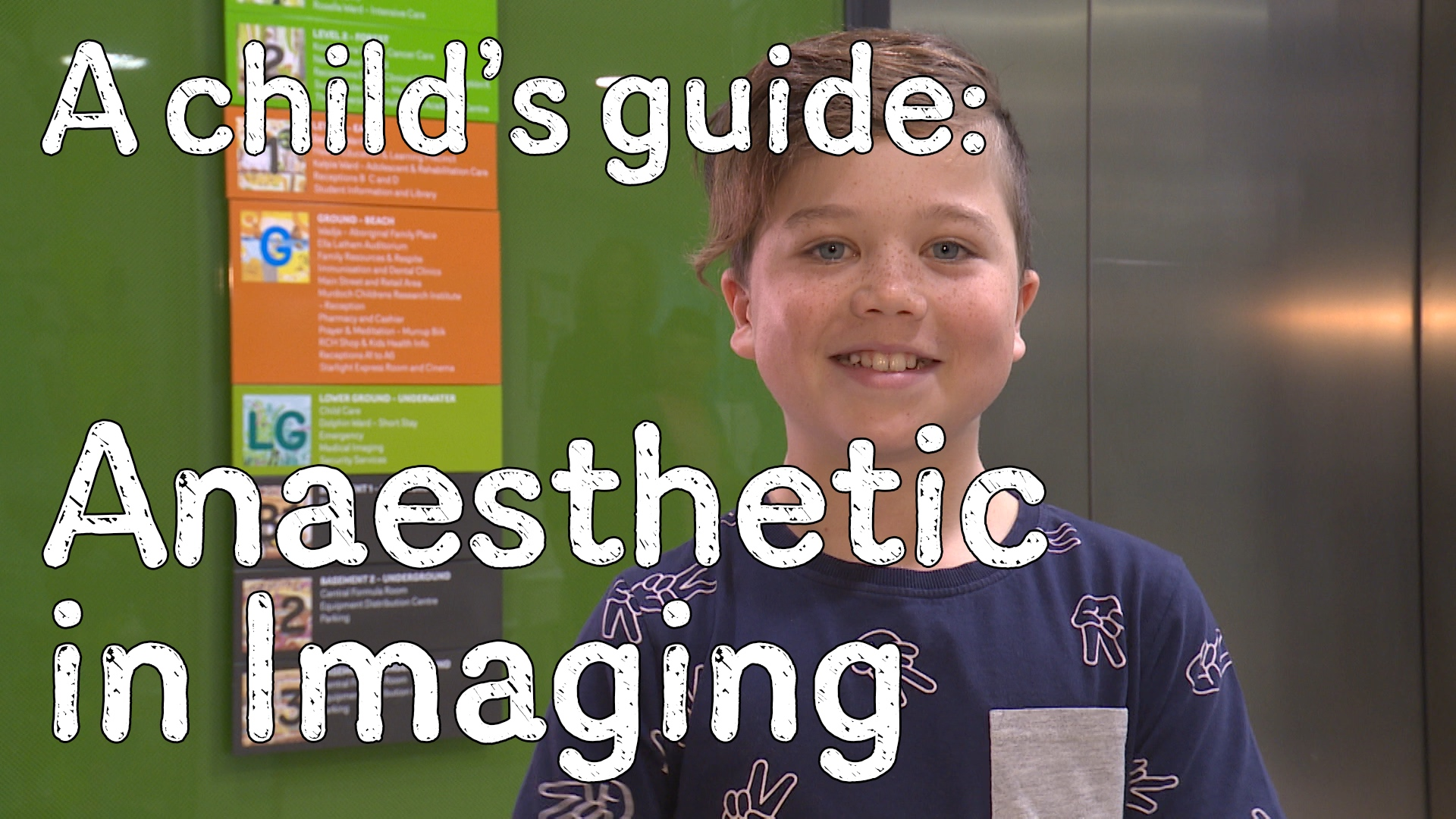 Anaesthetic in imaging