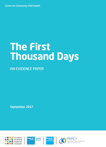 First 1000 days paper cover