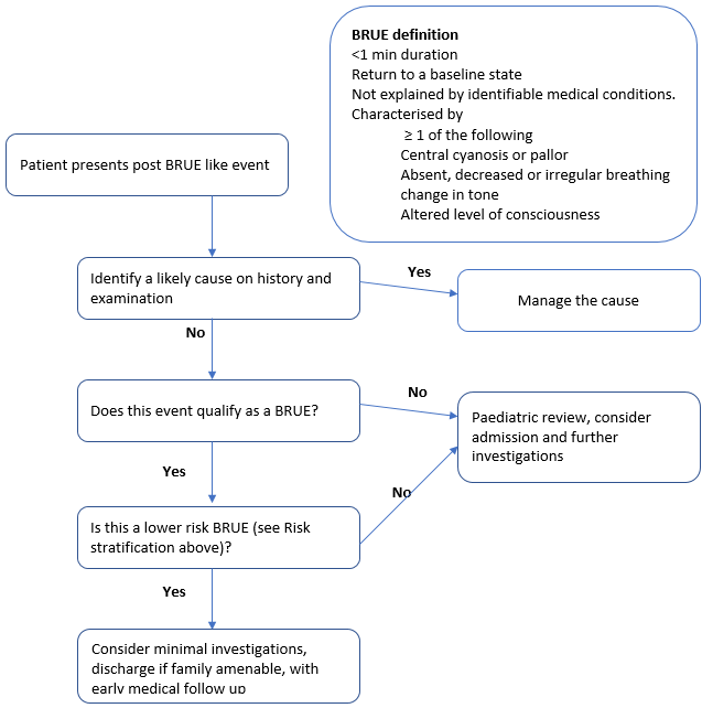 Clinical Practice Guidelines : Brief Resolved Unexplained Event BRUE