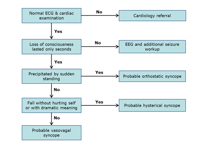 Clinical Practice Guidelines Diagnosis Of Syncope Flowchart