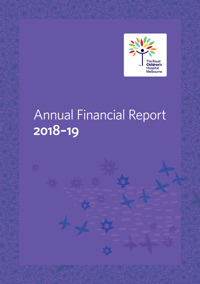 Annual financial report cover image