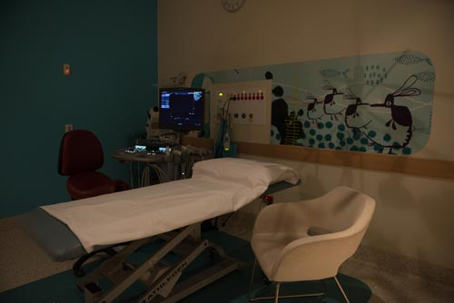 The ultrasound room