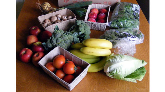 Vegetables and fruit included in patients diet at The RCH