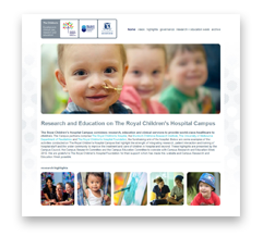 Visit the Research and Education on The Royal Children's Hospital Campus website