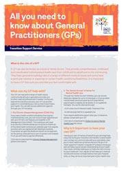 Transition resource image - all you need to know about GPs