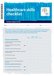 Transition support service: Healthcare skills checklist