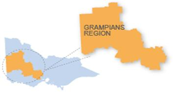 Grampians region map